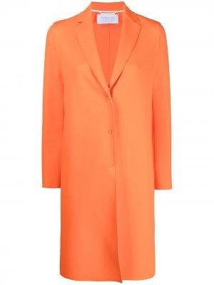 Однобортное пальто Harris Wharf London. Цвет: оранжевый