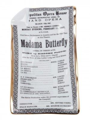 Пепельница Madama Butterfly Fornasetti. Цвет: серый