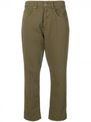 Укороченные зауженные джинсы 6397. Цвет: зеленый