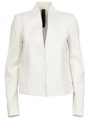 Структурированный пиджак Ilaria Nistri. Цвет: белый