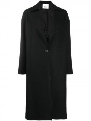 Однобортное пальто Erika Cavallini. Цвет: черный