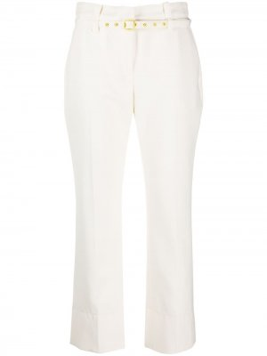 Belted tailored trousers Proenza Schouler. Цвет: off белый
