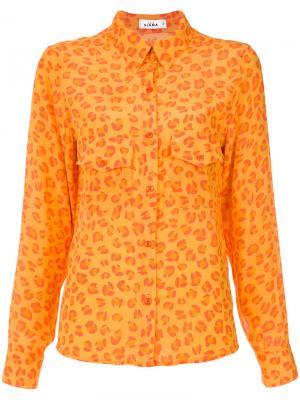 Leopard print shirt Amir Slama. Цвет: оранжевый