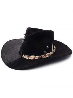 Шляпа-федора со вставками Nick Fouquet. Цвет: черный