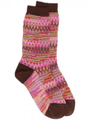 Носки с узором зигзаг Missoni. Цвет: розовый