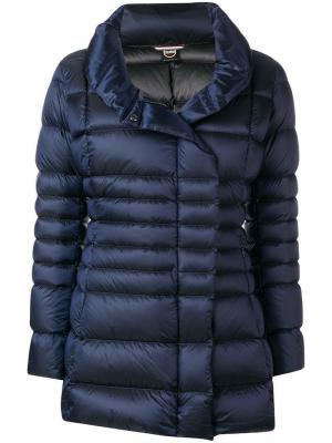 Облегающая дутая куртка Colmar. Цвет: синий