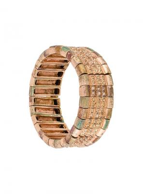 Elasticated embellished bracelet Philippe Audibert. Цвет: металлик