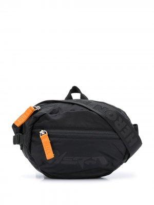 Поясная сумка с логотипом Heron Preston. Цвет: черный