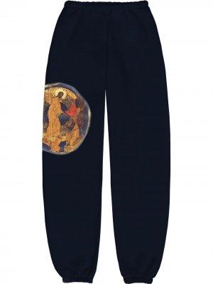 Спортивные брюки Jesus Is King Kanye West. Цвет: синий