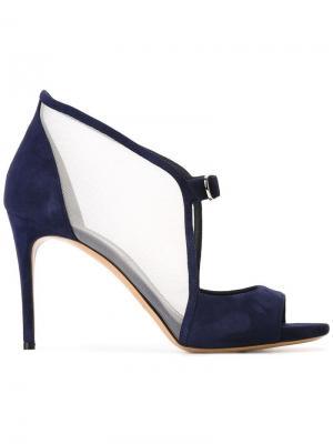 Туфли-лодочки с открытым носком Casadei. Цвет: синий