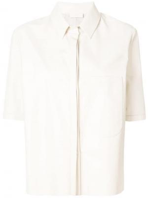 Рубашка свободного кроя Drome. Цвет: белый