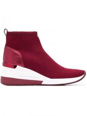 Кроссовки-носки с логотипом Michael Kors. Цвет: красный