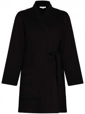 Стеганый халат Stormie Skin. Цвет: черный