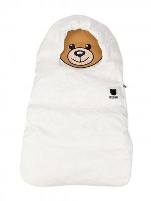 Спальный мешок с логотипом Moschino Kids. Цвет: белый