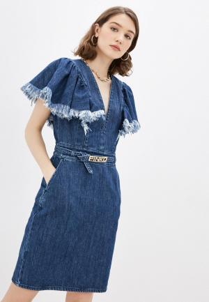 Платье джинсовое Pinko. Цвет: синий