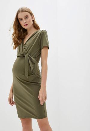 Платье Dorothy Perkins Maternity. Цвет: хаки
