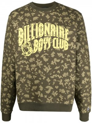 Толстовка Arch с камуфляжным принтом Billionaire Boys Club. Цвет: зеленый