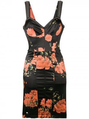 Floral stud-embellished dress Philipp Plein. Цвет: черный