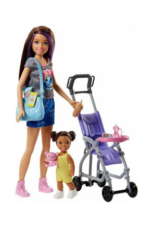 Набор  Няня Barbie. Цвет: голубой
