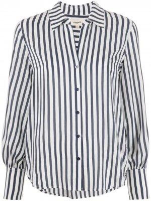 LAgence полосатая рубашка Jess с узкими манжетами L'Agence. Цвет: белый