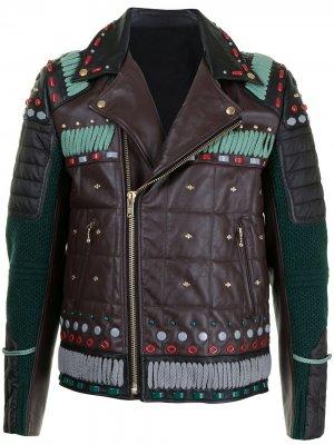 Декорированная байкерская куртка Navajo UNDERCOVER. Цвет: разноцветный