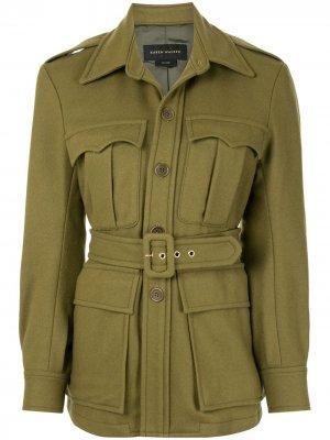 Куртка Olivine с поясом Karen Walker. Цвет: зеленый