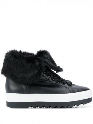 Кроссовки на платформе Hogl. Цвет: черный