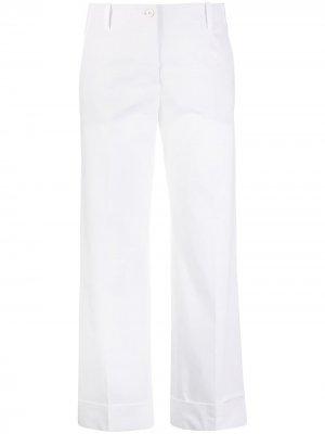 Укороченные брюки прямого кроя Alberto Biani. Цвет: белый