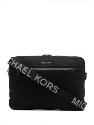 Сумка для ноутбука с логотипом Michael Kors Collection. Цвет: черный