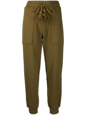 Спортивные брюки с кисточками Ulla Johnson. Цвет: зеленый
