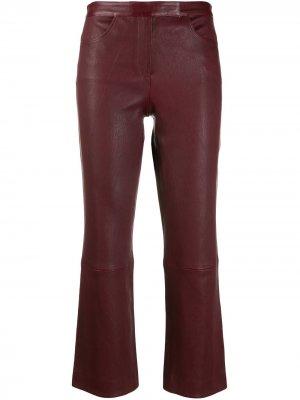 Укороченные брюки Theory. Цвет: красный