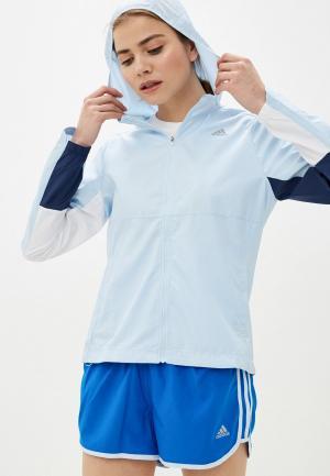 Ветровка adidas. Цвет: голубой