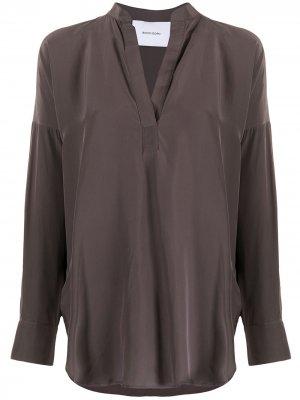 Блузка Pacific с длинными рукавами BONDI BORN. Цвет: коричневый