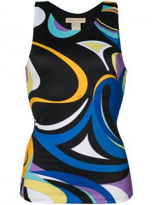 Пляжный топ Emilio Pucci. Цвет: многоцветный