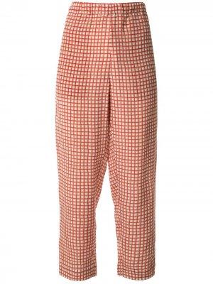 Укороченные брюки в клетку Marni. Цвет: красный