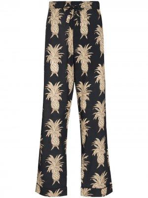 Пижамные брюки с принтом Desmond & Dempsey. Цвет: синий