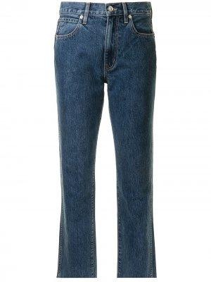 Прямые джинсы с завышенной талией Slvrlake. Цвет: синий