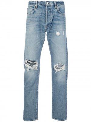 Зауженные джинсы средней посадки с прорезями Simon Miller. Цвет: синий