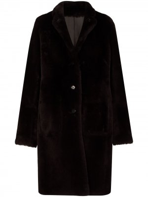Пальто Britanny из овчины Joseph. Цвет: коричневый