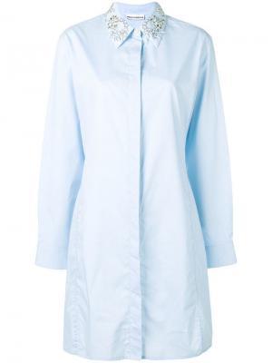 Beaded shirt collar Paco Rabanne. Цвет: синий