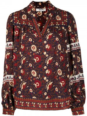 Блузка с цветочным принтом Sea. Цвет: фиолетовый