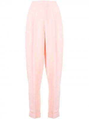 Креповые брюки Delpozo. Цвет: розовый