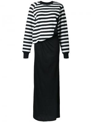 Платье в полоску A.F.Vandevorst. Цвет: чёрный