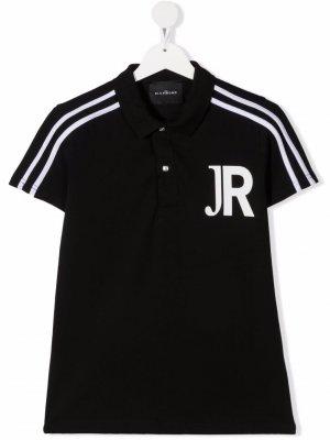 Рубашка поло с логотипом John Richmond Junior. Цвет: черный