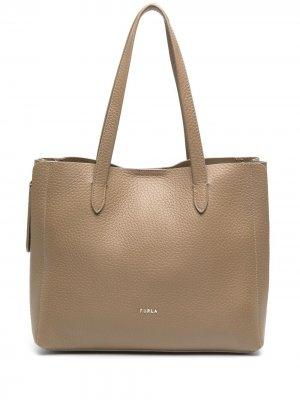 Большая сумка-тоут Grace Furla. Цвет: нейтральные цвета