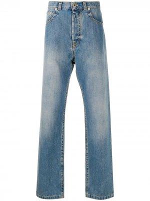 Широкие джинсы LANVIN. Цвет: синий