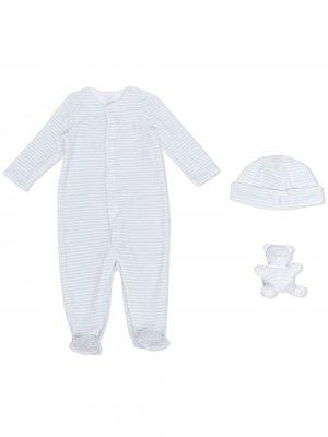 Комплект для новорожденного в полоску Ralph Lauren Kids. Цвет: синий