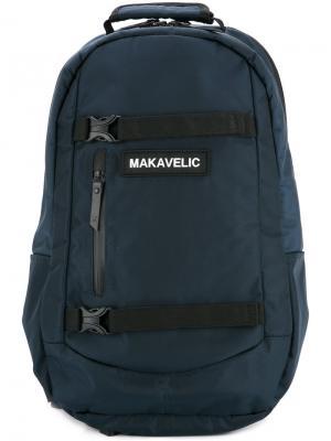 Рюкзак с креплениями Makavelic. Цвет: синий