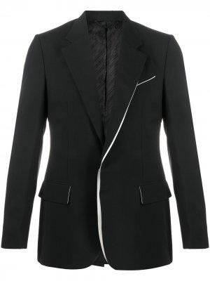 Однобортный пиджак Givenchy. Цвет: черный