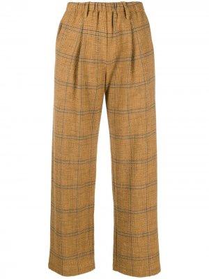 Укороченные брюки в клетку Forte. Цвет: коричневый